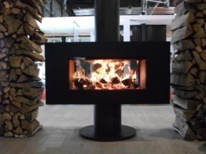kaminofen venus 850 dht durchsicht 9 11 kw 360 drehbar. Black Bedroom Furniture Sets. Home Design Ideas