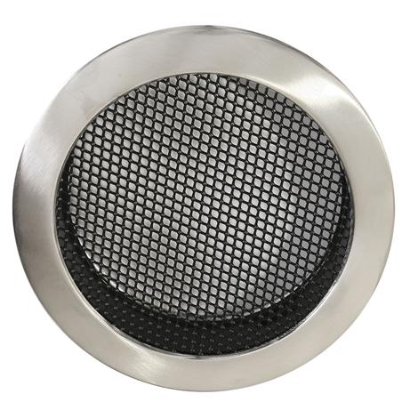 Luftgitter rund edelstahl geb rstet dn 160 mm for Mobelgriffe edelstahl 160 mm