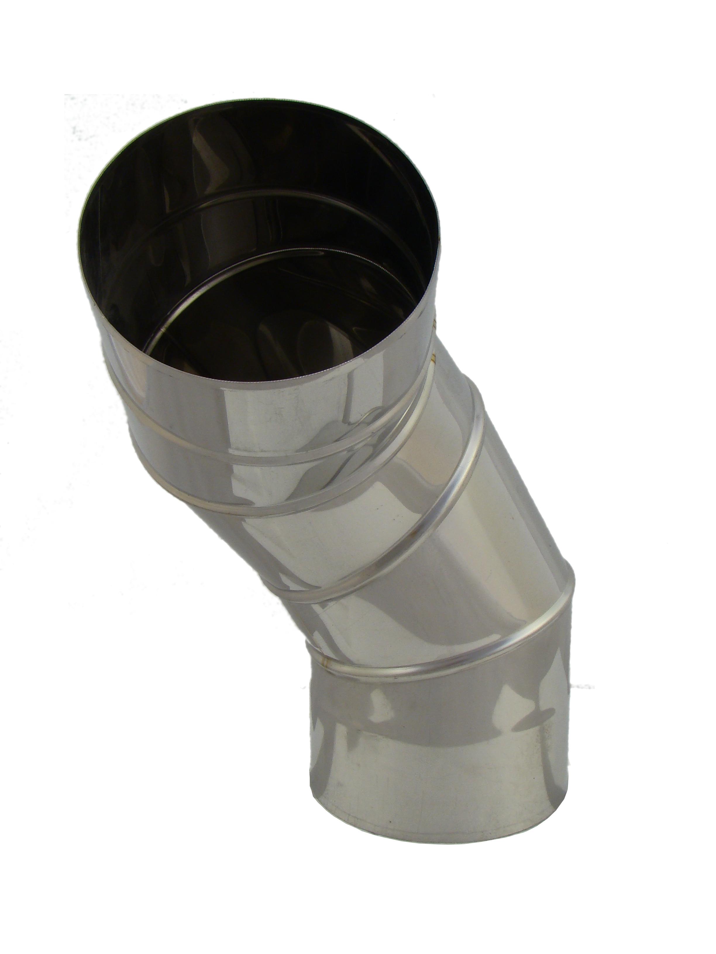 Schornstein Reinigungswinkel drehbar 0-90/° EW einwandig Edelstahl /Ø 130 mm; 0,6mm Wandst/ärke