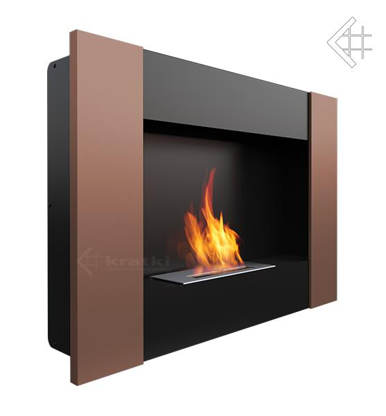 bio ethanol kamin bravo 2 kupferfarben wandkamin deko bioethanol wand kamin ebay. Black Bedroom Furniture Sets. Home Design Ideas