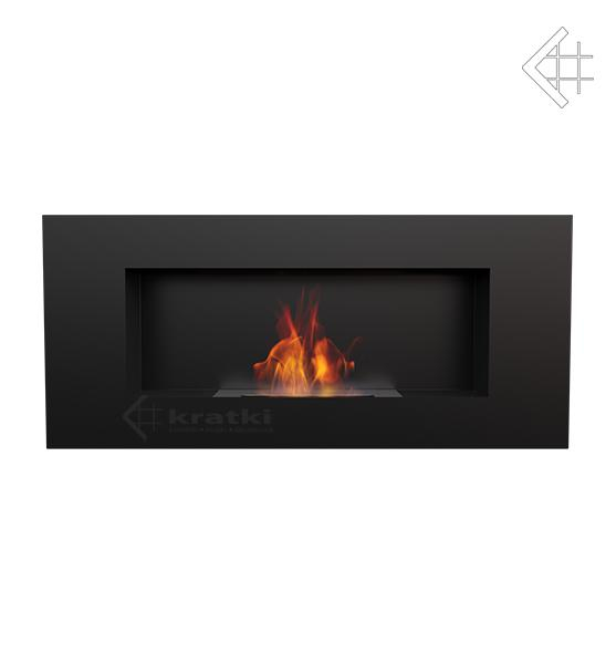 bio ethanol kamin delta 2 schwarz wandkamin deko bioethanol wand kamin ebay. Black Bedroom Furniture Sets. Home Design Ideas