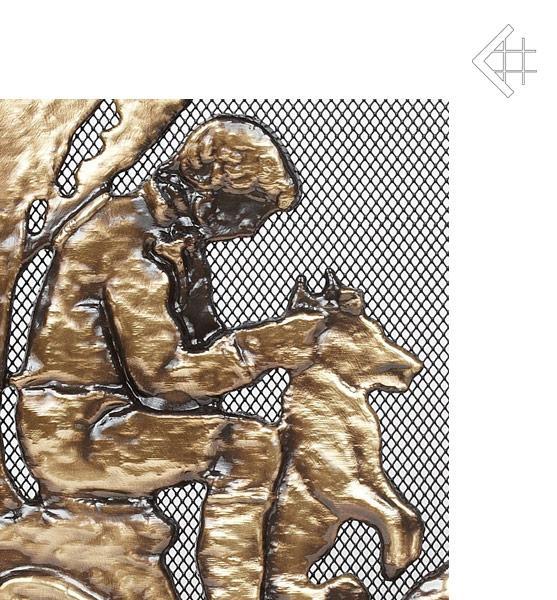kamin luftgitter mit jagd motiv ofen l ftungsgitter air grid for fireplace ebay. Black Bedroom Furniture Sets. Home Design Ideas