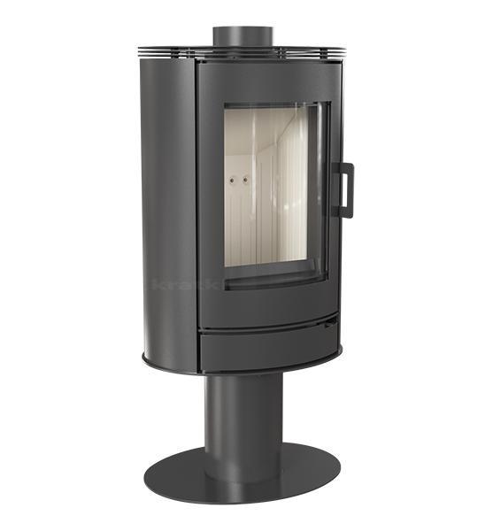 kaminofen kratki koza ab s n o stahl schwarz mit standfu 360 drehbar 8 kw. Black Bedroom Furniture Sets. Home Design Ideas