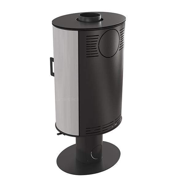 kaminofen kratki koza ab s n o stahl schwarz mit standfu 360. Black Bedroom Furniture Sets. Home Design Ideas