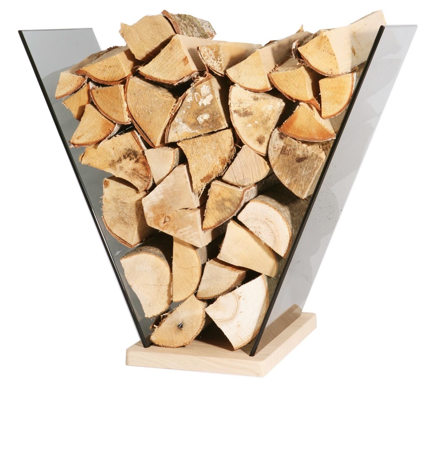 kaminholzst nder glas holz 61 x 35 x 58 cm brennholzst nder. Black Bedroom Furniture Sets. Home Design Ideas