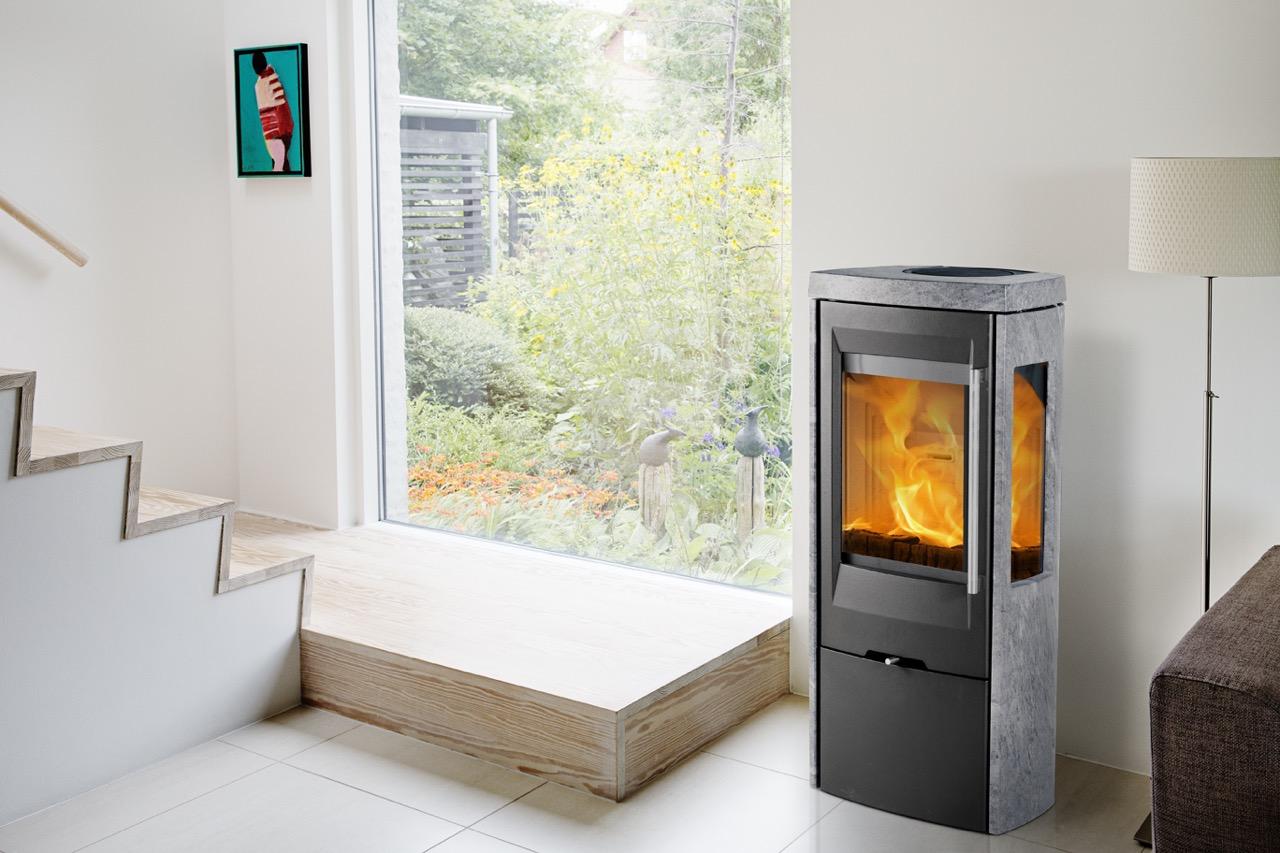 kaminofen termatech tt30gs speckstein stahl mit seitenscheiben 5 kw schwarz oder. Black Bedroom Furniture Sets. Home Design Ideas
