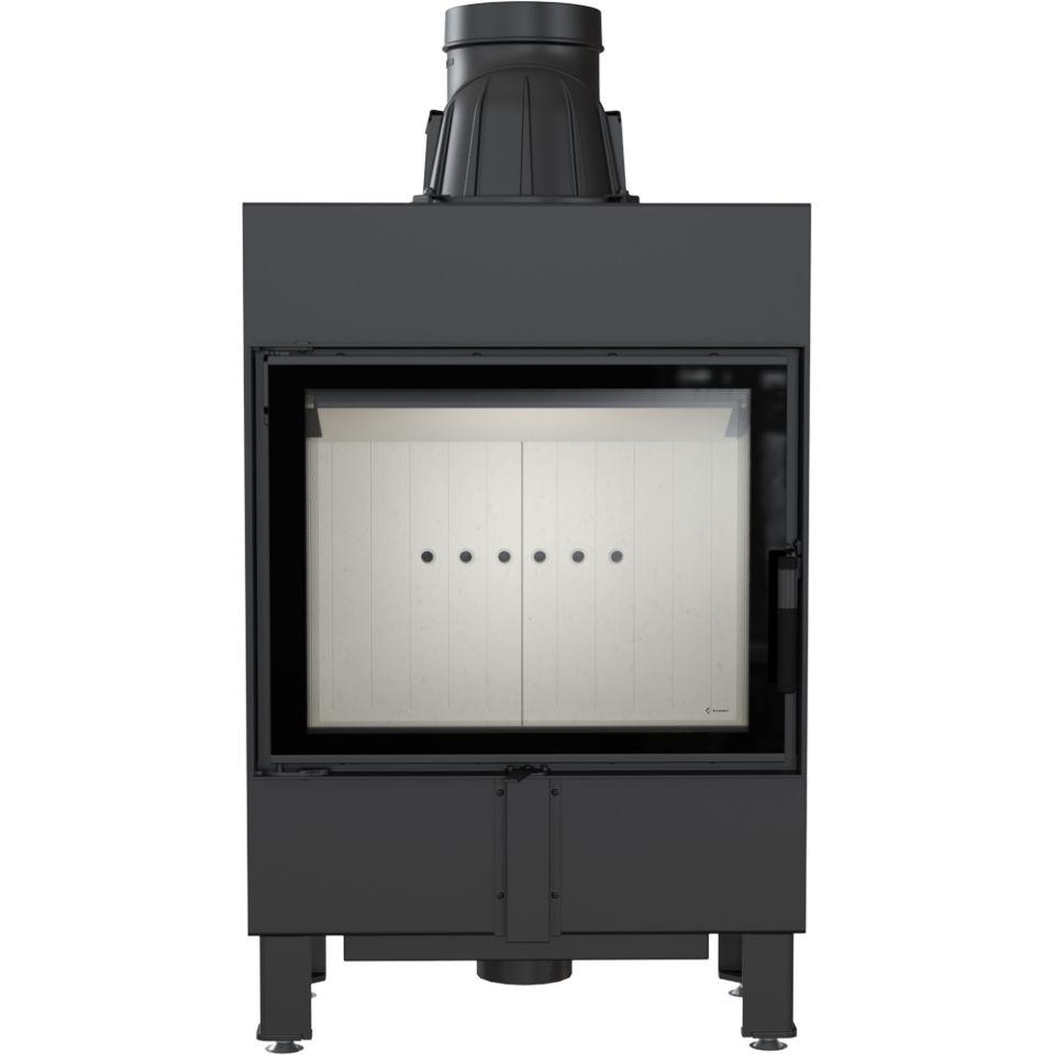 kamineinsatz kratki lucy 12 mit 3 8 kw flach slim. Black Bedroom Furniture Sets. Home Design Ideas