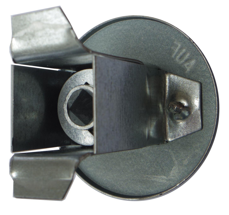 Aufputz schwarz Drosselklappengriff rund Luftklappengriff
