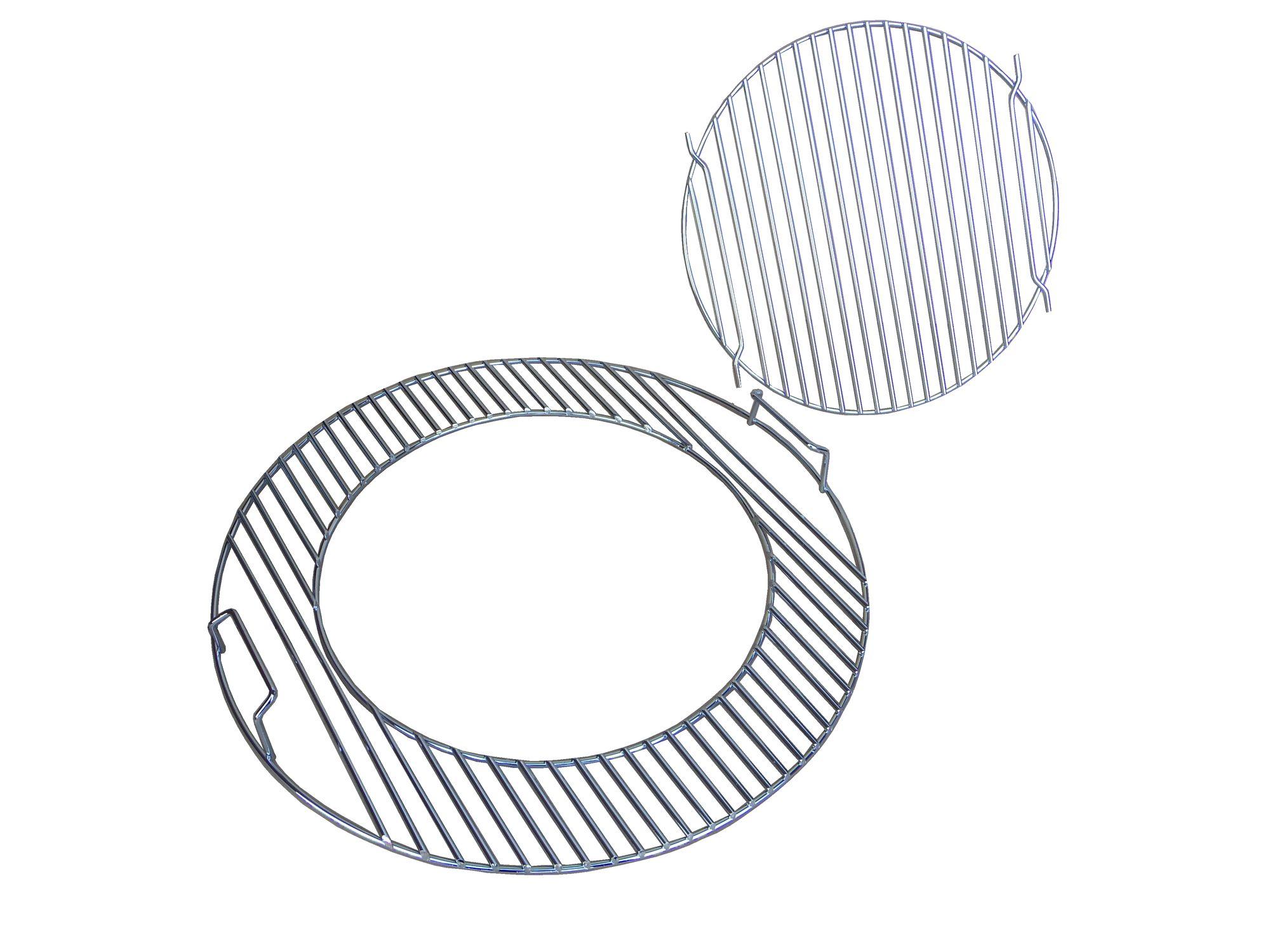 Grillrost rund für 47 cm 57 cm klappbar System für Einsatz Wok Pfanne Pizzastein
