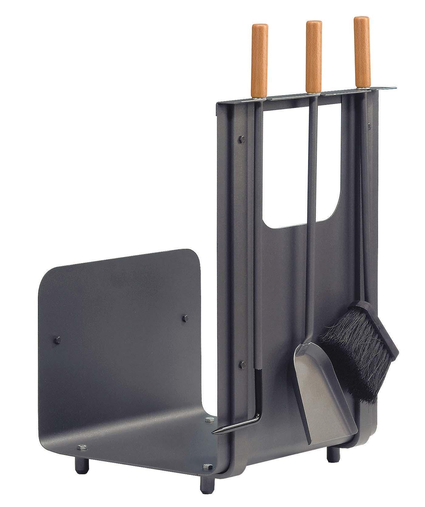 kaminbesteck holzkorb lienbacher premium anthrazit 3teilig. Black Bedroom Furniture Sets. Home Design Ideas