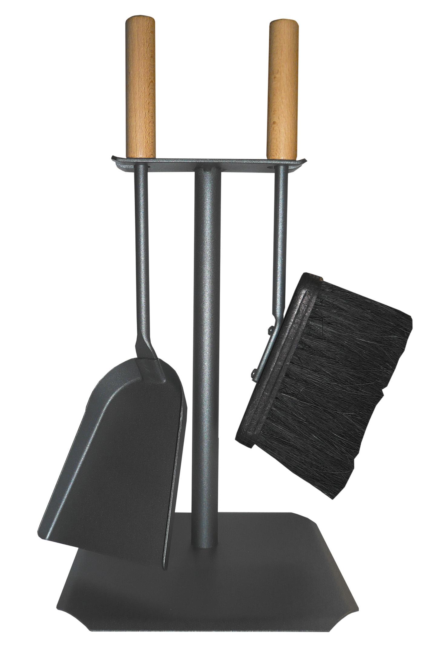 kaminbesteck lienbacher standard anthrazit 2teilig buchengriffe. Black Bedroom Furniture Sets. Home Design Ideas