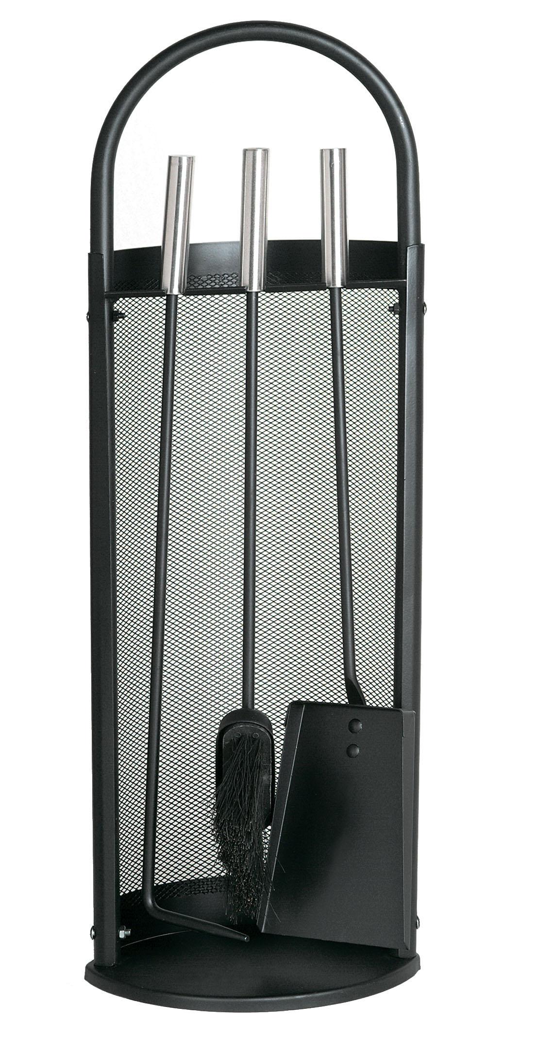 kaminbesteck lienbacher basic schwarz 3teilig edelstahlgriffe. Black Bedroom Furniture Sets. Home Design Ideas