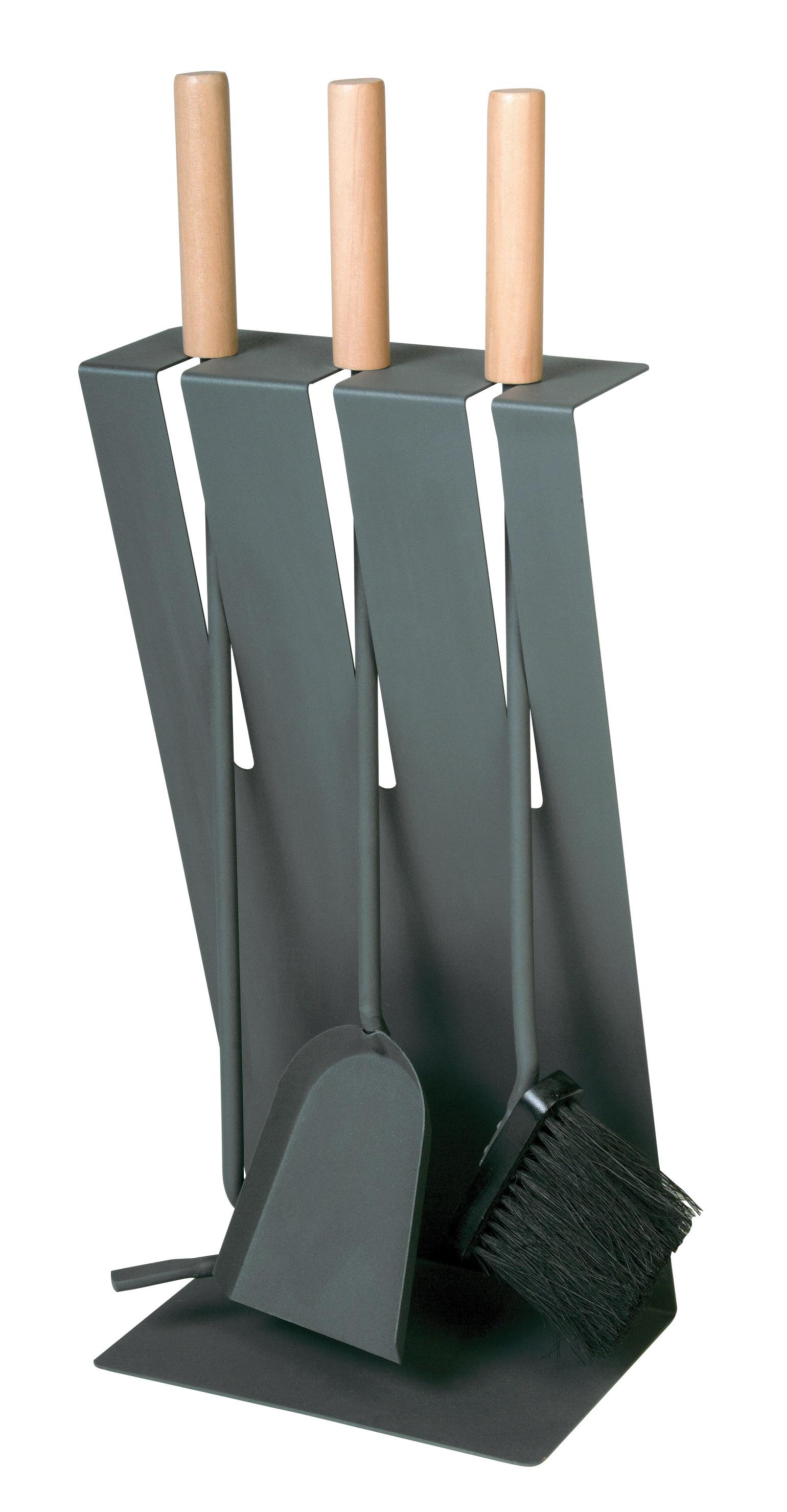 kaminbesteck lienbacher basic anthrazit 3teilig holzgriffe. Black Bedroom Furniture Sets. Home Design Ideas