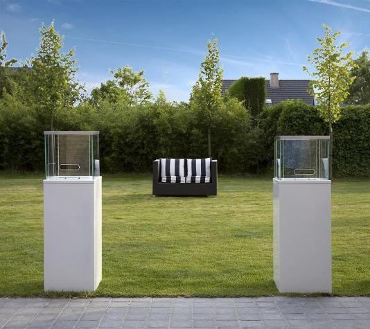 ethanol kamin column schwarz. Black Bedroom Furniture Sets. Home Design Ideas