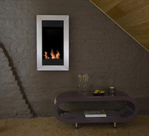 ethanol kamin square vertikal edelstahl. Black Bedroom Furniture Sets. Home Design Ideas