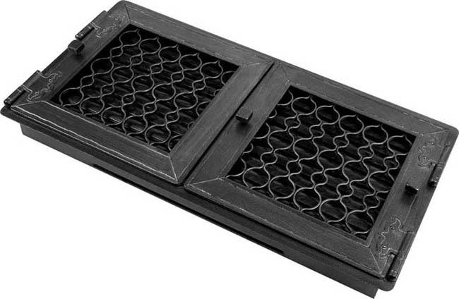 luftgitter retro graphit 24x46 2 fl gelig mit t r. Black Bedroom Furniture Sets. Home Design Ideas