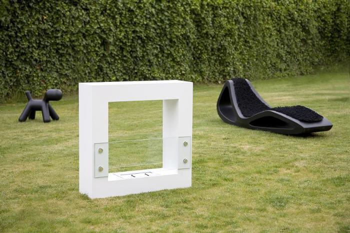 ethanol kamin qube klein wei. Black Bedroom Furniture Sets. Home Design Ideas