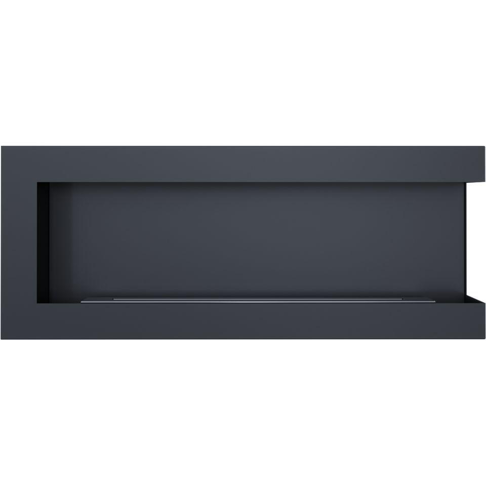 bioethanol kamin delta schwarz 1200 f r wand einbau rechte. Black Bedroom Furniture Sets. Home Design Ideas